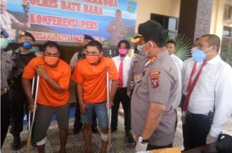 Polres Batubara Tembak 2 Bandar Sabu Antar Provinsi