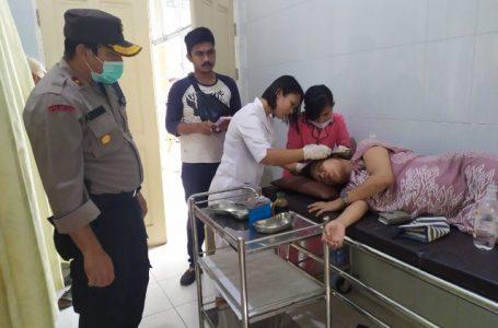Kapolsek Medan Helvetia Tinjau Lokasi Lakalantas di Kelurahan Cinta Damai