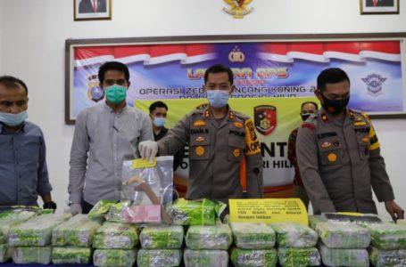 Polres Inhil Amankan 50 Kg Sabu