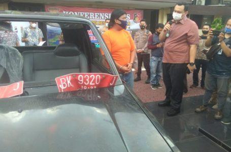 Polrestabes Medan Amankan Pelaku Pengerusakan Mobil Dinas Bina Marga