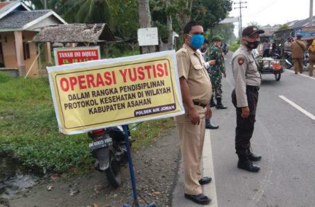 Pemerintah Kecamatan Air Joman Beserta Unsur Forkopimcam Gelar Operasi Yustisi