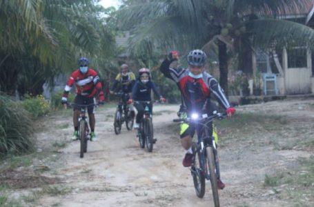 Pantau Situasi Kamtibmas, Kapolres Sergai Gowes Sepeda Bareng PJU