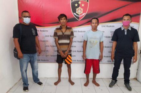 Dua Pencuri di Desa Air Hitam Diciduk Polsek Kualuh Hilir