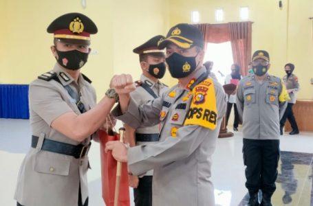 Kapolres Kampar Pimpin Upacara Sertijab Kapolsek Tambang