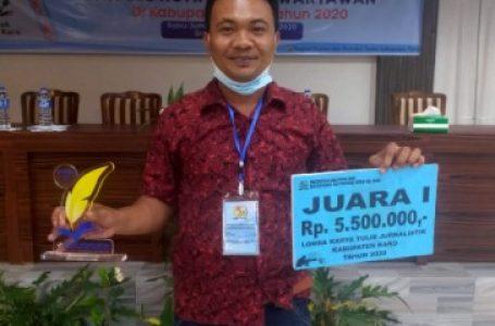 Marlinto Sihotang SPd Juara Lomba Karya Tulis Jurnalistik Pemkab Karo
