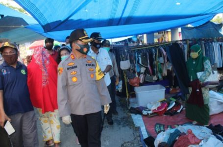 Polres Serdang Bedagai Bersama Tim Gabungan Sosialisasi Prokes Covid-19 dan Bagikan 700 Masker