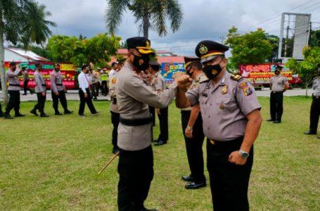 91 Personel Polres Kampar Naik Pangkat di Tahun Baru
