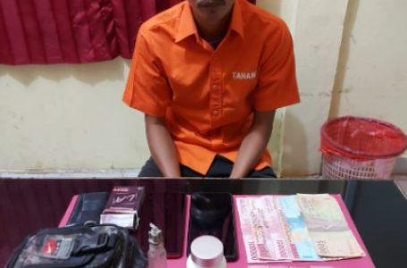 Polsek Tapung Hulu Ringkus Bandar Narkoba dan 17 Paket Sabu Siap Edar
