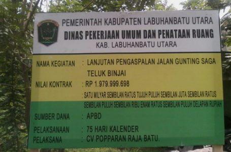 Bangunan Aspal Tanjung Pasir Berlubang, Kadis PUPR Ajukan Pembayaran Anggaran 100 %