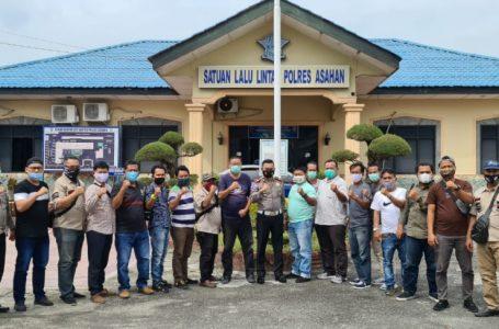 Jurnalis Asahan Silaturahmi Dengan Kasat Lantas AKP Jodi Indrawan