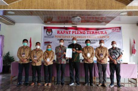 KPU Tetapkan Amizaro Waruwu SPd Sebagai Bupati Nias Utara