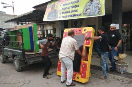 Dua Unit Mesin Judi Ketangkasan di Jalan Rawe Raya Diamankan Polsek Medan Labuhan
