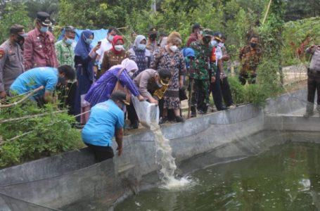 Wakapolres Sergai Resmikan Kampung Tangguh di Desa Cempedak Lobang