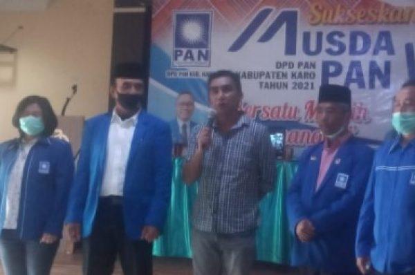 Bupati Hadiri Musda Ke-VI DPD Partai PAN Kabupaten Karo