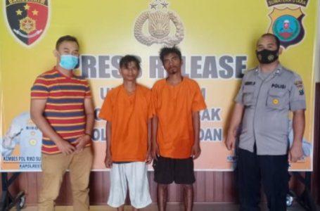 Dua Pencuri Besi Milik PT Palmec Ditangkap