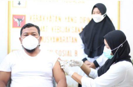 Jalani Vaksinasi Tahap Kedua, Wali Kota HM Syahrial Ajak Masyarakat Sukseskan Program Vaksinasi Covid-19 di Kota Tanjungbalai