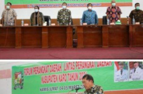 Pemkab Karo Gelar Forum Perangkat Daerah Lintas Kabupaten Tahun 2021
