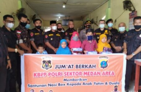 KBPP Polri Sektor Medan Area Gelar Jumat Barokah