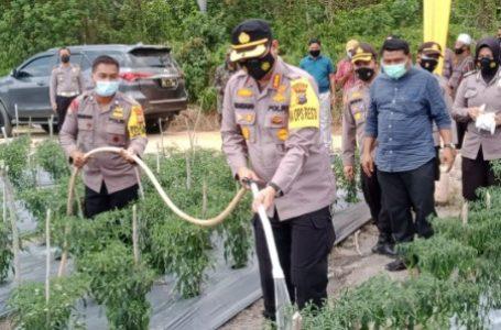 Kapolresta Pekanbaru Sambangi Kampung Tangguh Okura