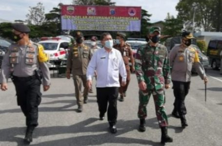Forkopimda Gelar Apel Pasukan Kesiapsiagaan Penanggulangan Bencana Kabupaten Karo Tahun 2021