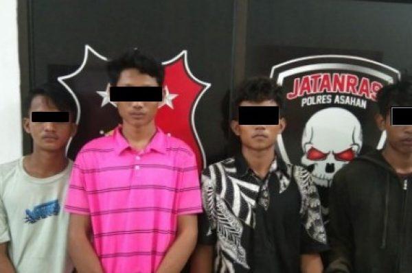 Polres Asahan Ringkus 4 Pemuda Pembobol Rumah Kosong
