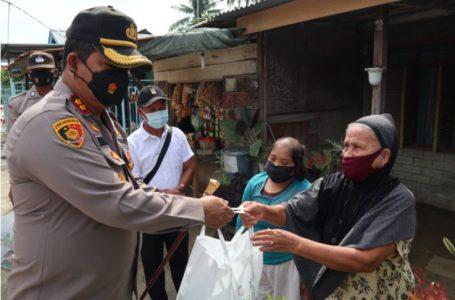 Kapolres Batubara Salurkan Bantuan Sembako dan Tali Asih Kapoldasu
