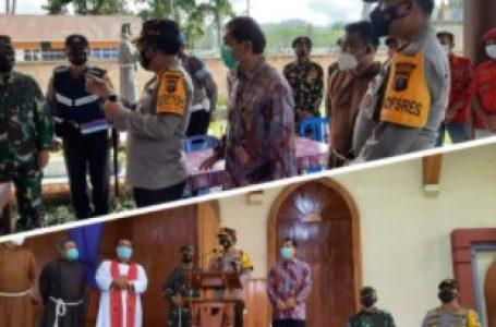 Bupati Karo Bersama Pangdam dan Kapoldasu Tinjau Gereja Pasca Jumat Agung di Berastagi