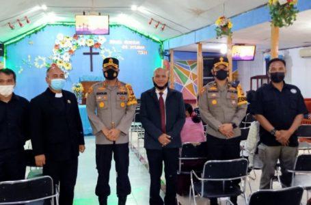 Kapolres Kampar Tinjau Pengamanan Gereja Saat Kegiatan Jumat Agung Jelang Paskah 2021