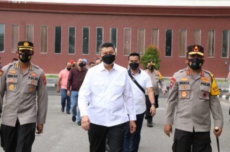 Kapoldasu Bersama Kalemdiklat Polri Cek Lokasi Latsitarda Nusantara dan Vaksinasi Massal