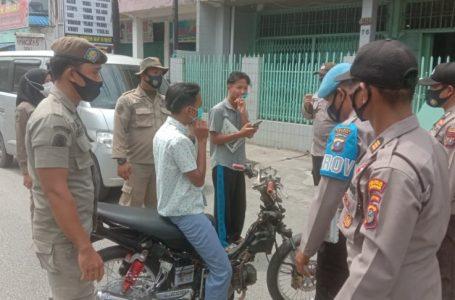 Satpol PP Gandeng Polres Asahan Gelar Operasi Yustisi Penegakan Prokes