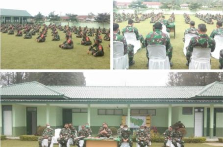 Wujud Kemanunggalan TNI Bersama Rakyat, Dandim 0205/TK Terapkan Disiplin Para Anggota Danramil dan Babinsa
