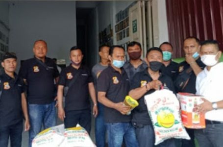 Sambut Idul Fitri, Pewarta Polrestabes Medan Bagikan Paket Lebaran Kepada Jurnalis