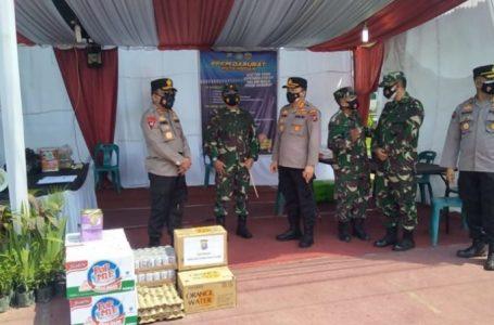 Kapolda Sumut dan Pangdam Kunjungi Pos PPKM Darurat Pastikan Anggota Tetap Prima