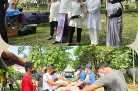 Keluarga Besar Polres Kampar Sembelih 12 Ekor Hewan Qurban di Idul Adha 1442 H
