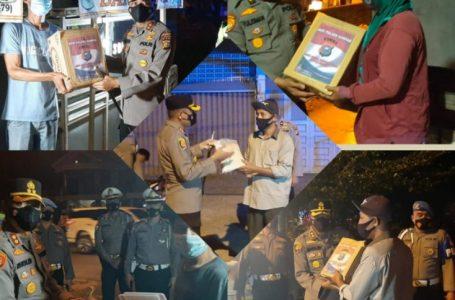 Polres Kampar Gelar Patroli Skala Besar dan Bagikan Bansos Untuk Warga Kurang Mampu