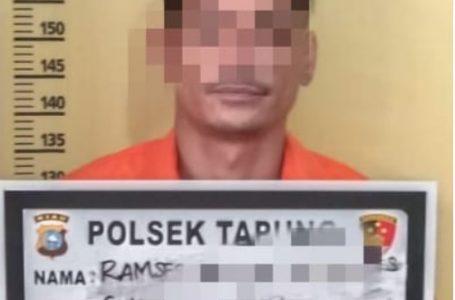 Pelaku Penganiayaan Ditangkap Polsek Tapung di Kedai Tuak