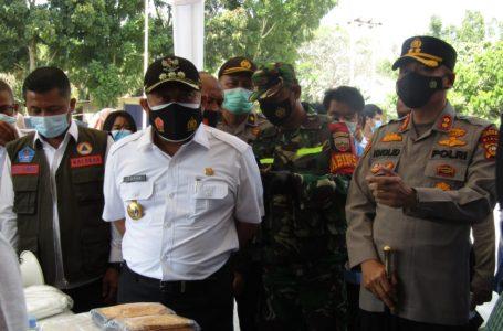 Bupati Kampar Bersama Kapolres Tinjau Pos PPKM Desa Tarai Bangun Kec. Tambang
