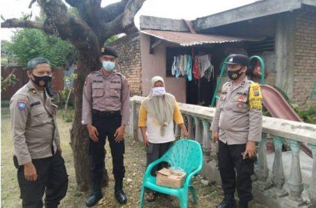 Polsek Medan Helvetia Salurkan Bantuan Sembako Kapolda