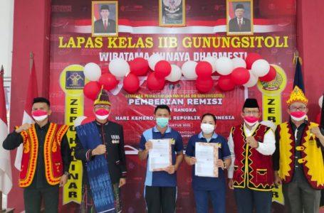 115 Warga Binaan Lapas Gunungsitoli Dapat Remisi di HUT Kemerdekaan RI Ke-76
