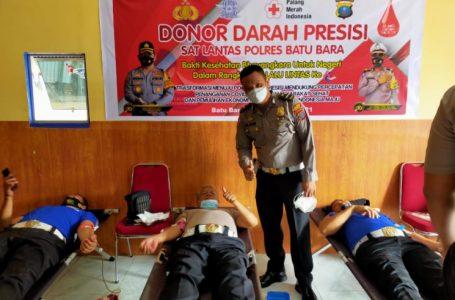 Polres Batubara Gelar Bakti Kesehatan Donor Darah Presisi