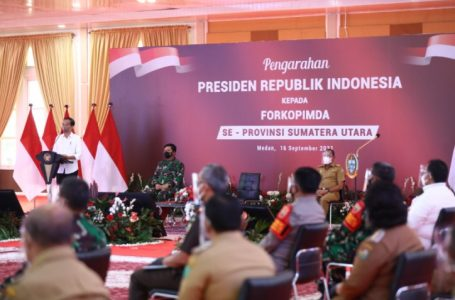 Danlantamal l dan Forkopimda Sumut Terima Pengarahan Presiden RI