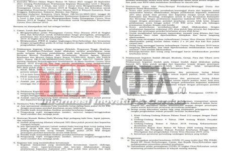 Bupati Karo Keluarkan Surat Edaran PPKM Level II