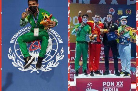 Roberto Manik Atlet Karo Raih Medali Perak Kelas 70 kg Cabor Wushu di PON XX Papua