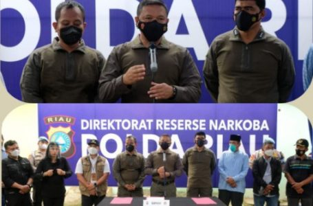 Ditres Narkoba Polda Riau Kembali Ungkap Jaringan Internasional, Barang Bukti 81 Kg Sabu