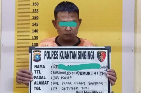 Pelaku Judi Togel Online Ditangkap Satreskrim Polres Kuansing