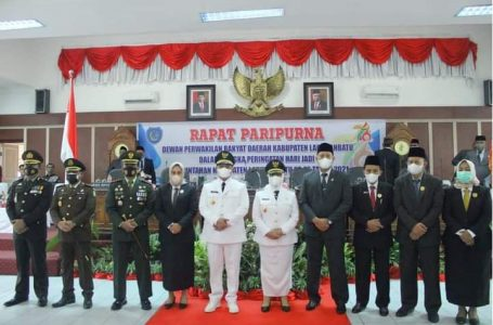 Bupati dan Wakil Hadiri Sidang Paripurna DPRD HUT Ke-76 Labuhanbatu
