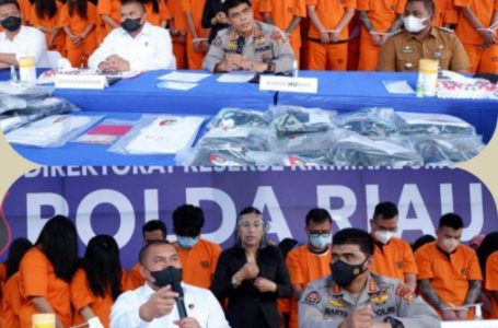 59 Tersangka Judi Online Diciduk Ditkrimum Polda Riau di Ruko Kawasan Pemuda Citywalk Pekanbaru